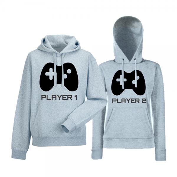 Mikiny pro páry Player 1 - Player 2 HDS-CP-052G