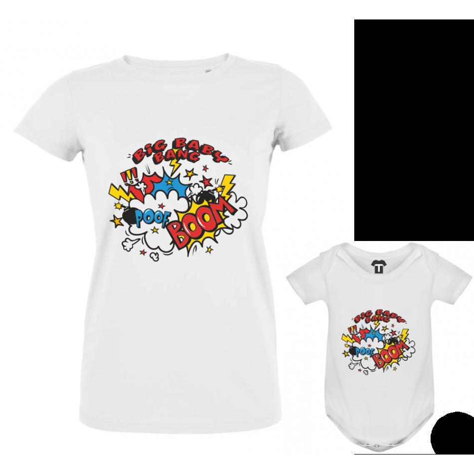 Set dámské tričko a dětské body Big Bam Boom P-F3-207