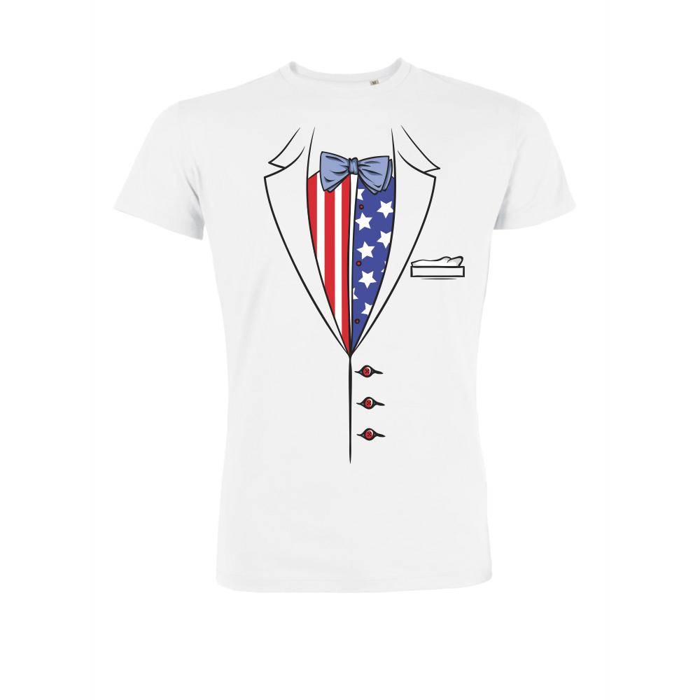 Pánské tričko Bílé Americano P-M-204