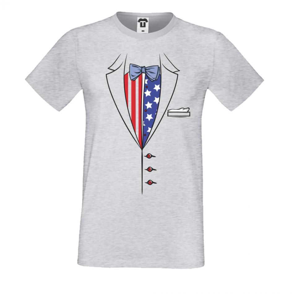 Pánská trička Šedé Americano P-M-204G