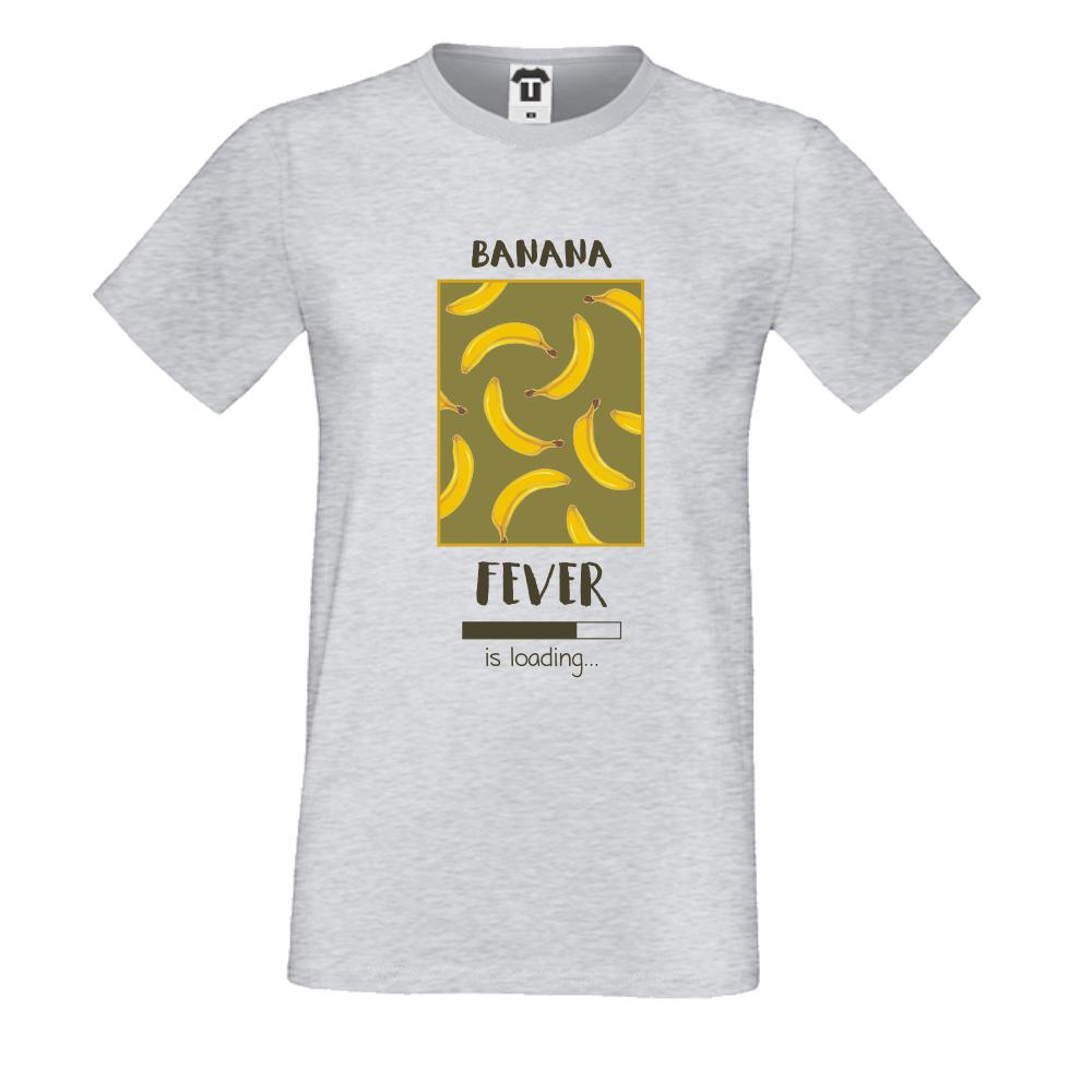 Pánská trička Šedé Banana Fever P-M-209G