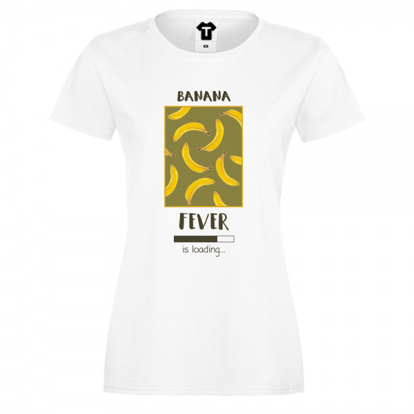 Dámské tričko Bílá Banana Fever P-W-209
