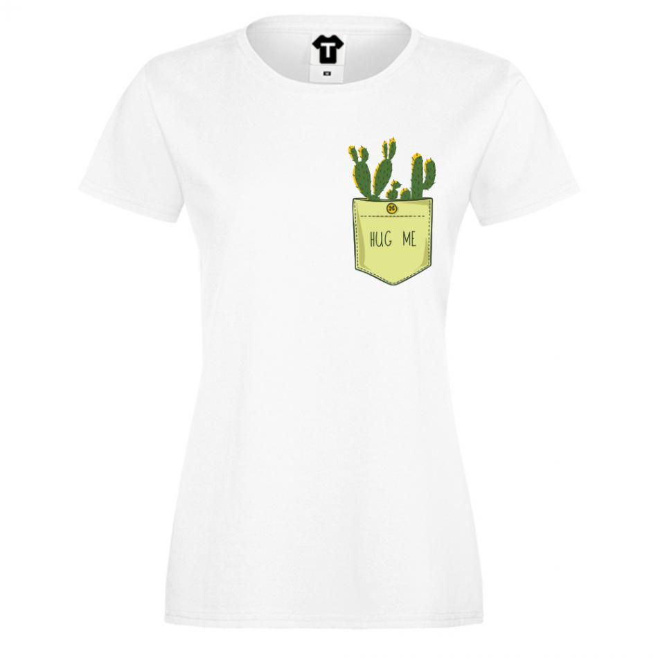 Dámské tričko Bílá Cactus Pocket P-W-213