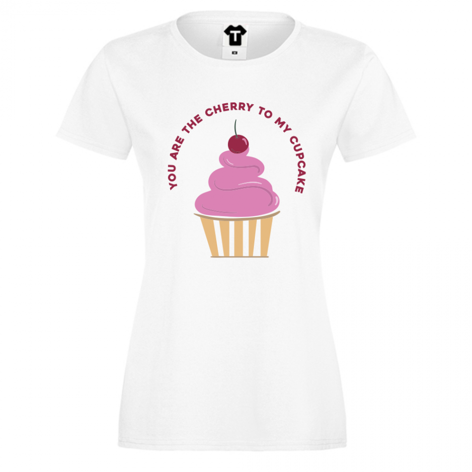 Dámské tričko Bílá Cherry to my Cupcake P-W-221