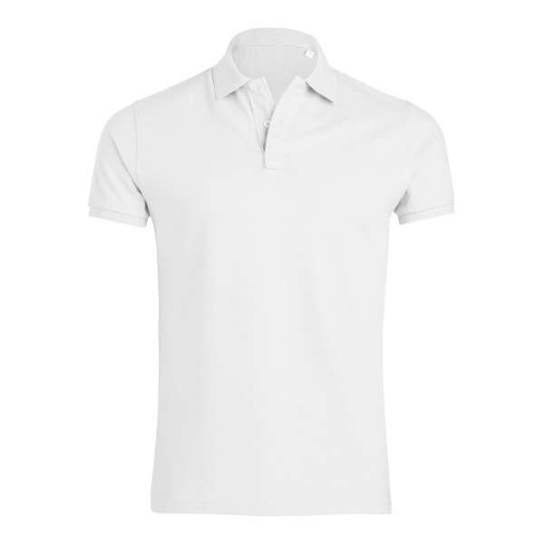 Bílé pánské polo tričko 100% organická bavlna в есенен цвят SSB-300