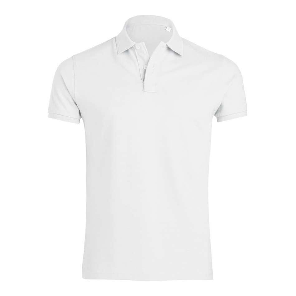 Bílé pánské polo tričko 100% organická bavlna SSB-300