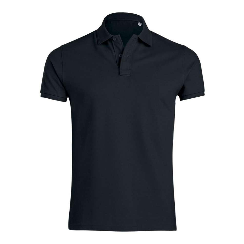 Černé pánské polo tričko 100% organická bavlna SSB-300B