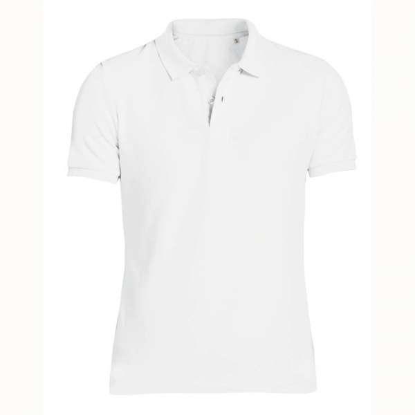 Bílé pánské polo tričko 100% organická bavlna SSB-771