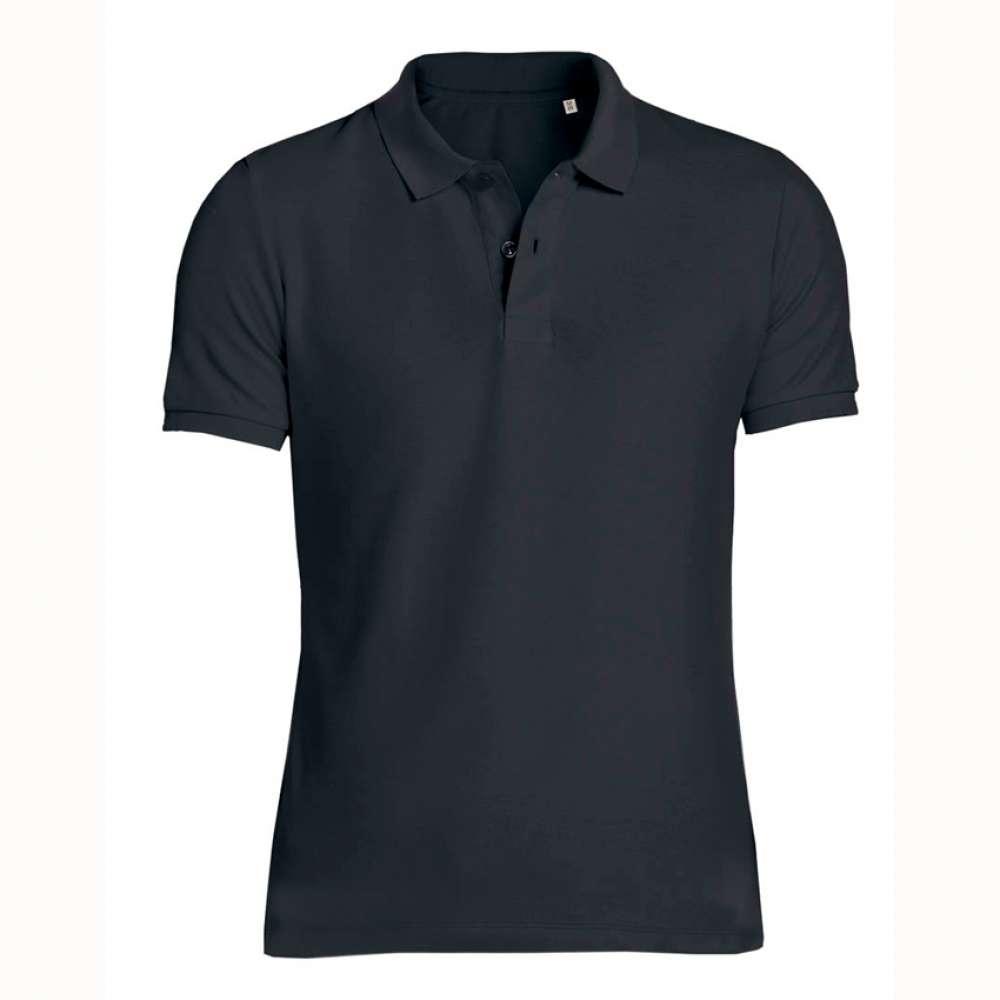 Černé pánské polo tričko 100% organická bavlna SSB-771B