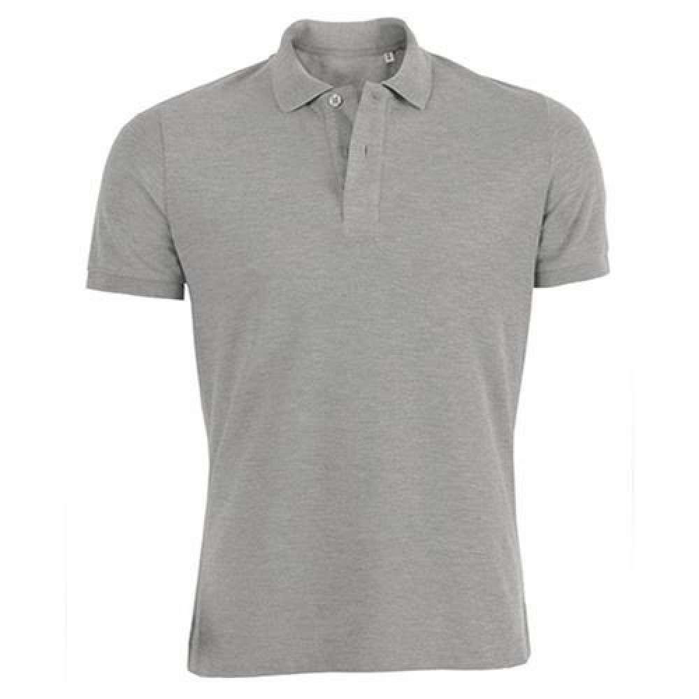Šedé pánské polo tričko 100% organická bavlna SSB-771HG